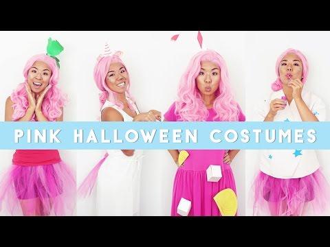 ✂ 4 Pink Last Minute Halloween Costumes , YouTube
