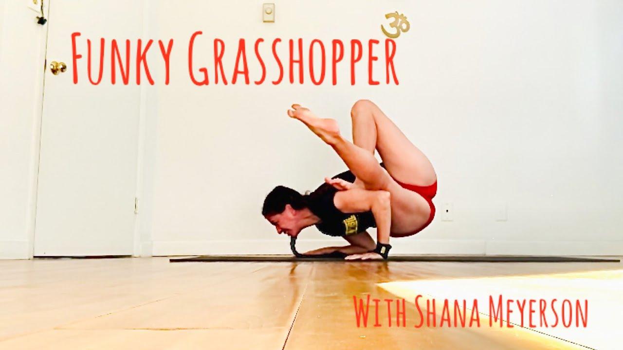 funky grasshopper yoga pose with shana meyerson YOGAthletica