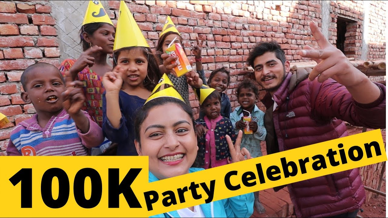 100k Subscribers Party !!🍾 With Cute Kids ❤️