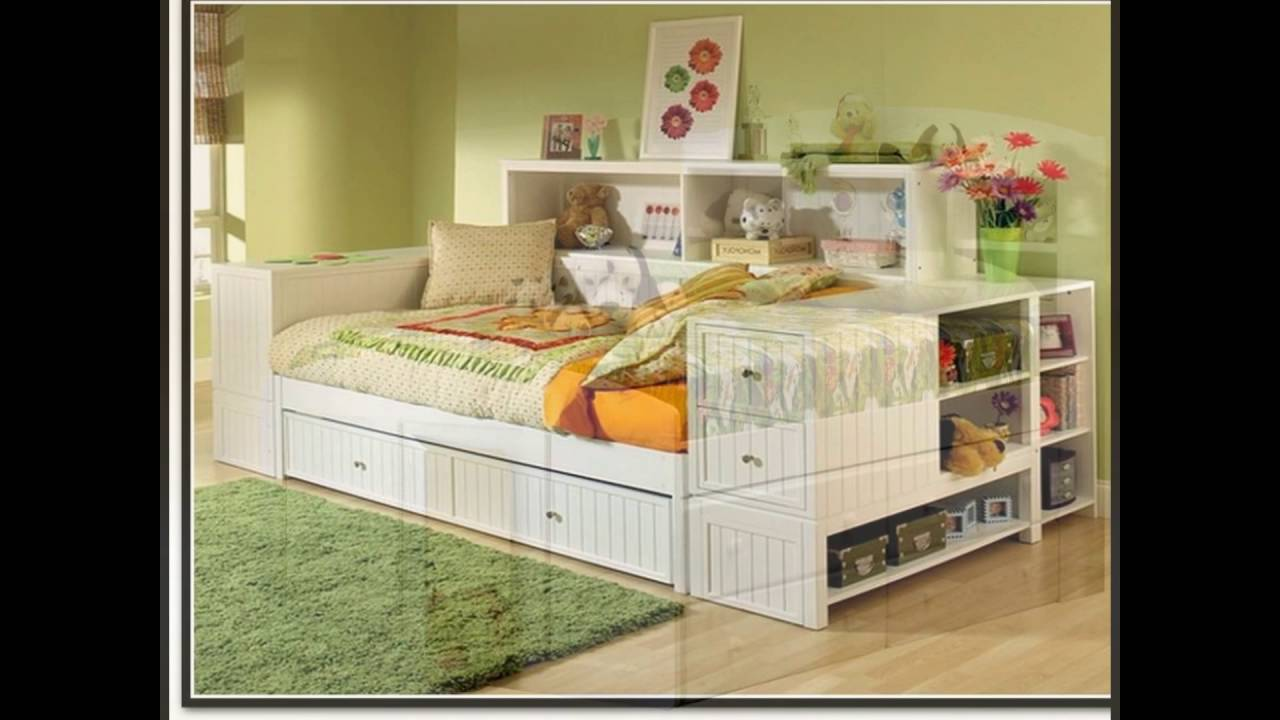 Daybed With Trundle And Storage Youtube