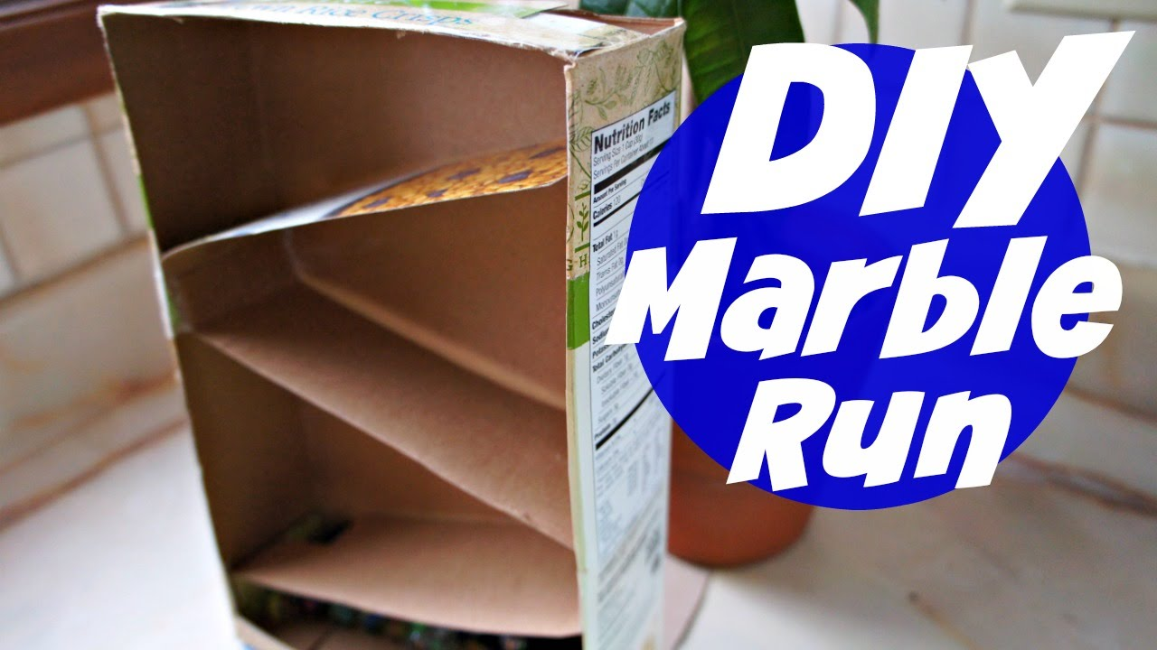 How to Make a Cereal Box Marble Run - YouTube