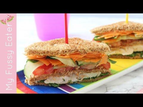 Healthy Club Sandwich For Kids   Lunchbox Recipe