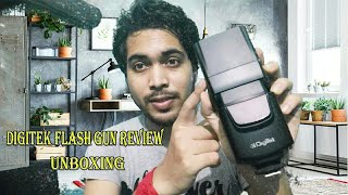 DigiTek DSLR Camera Flash Gun DFL- 003 Review Unboxing Hindi