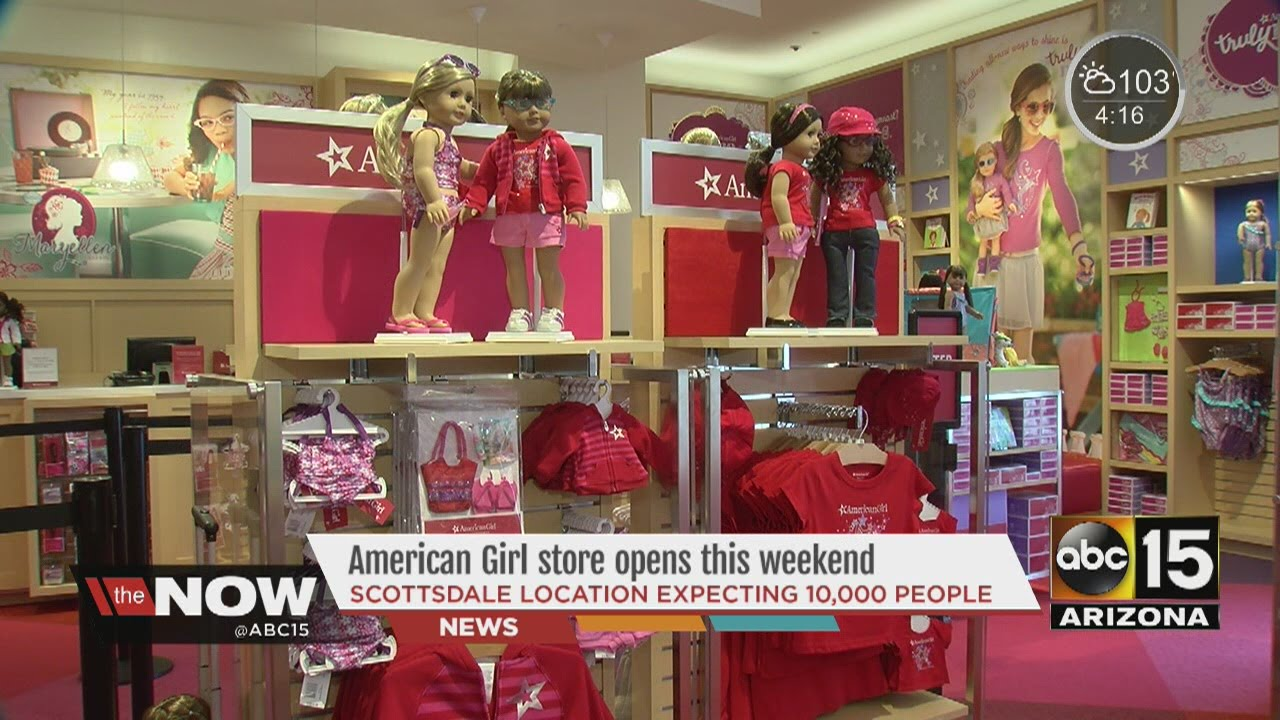 American Girl Store Opening In Scottsdale Youtube