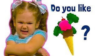 Do You Like Broccoli Ice Cream? Yucky! Nursery Rhymes Super Simple Song