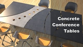 Concrete Conference Table Design And Manufacturing Designs By Rudy