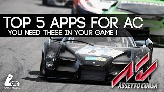 TOP 5 APPS FOR ASSETTO CORSA - [WITH DOWNLOAD LINKS]