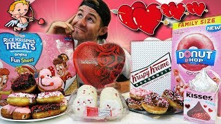 THE VALENTINES DAY DESSERT CHALLENGE! (15,000+ CALORIES)