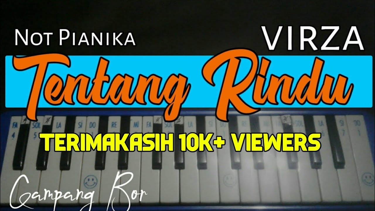Repeat Tentang Rindu Virza Not Pianika Versi Selow By Aldif M A You2repeat