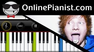 Ed Sheeran - The A Team - Piano Tutorial