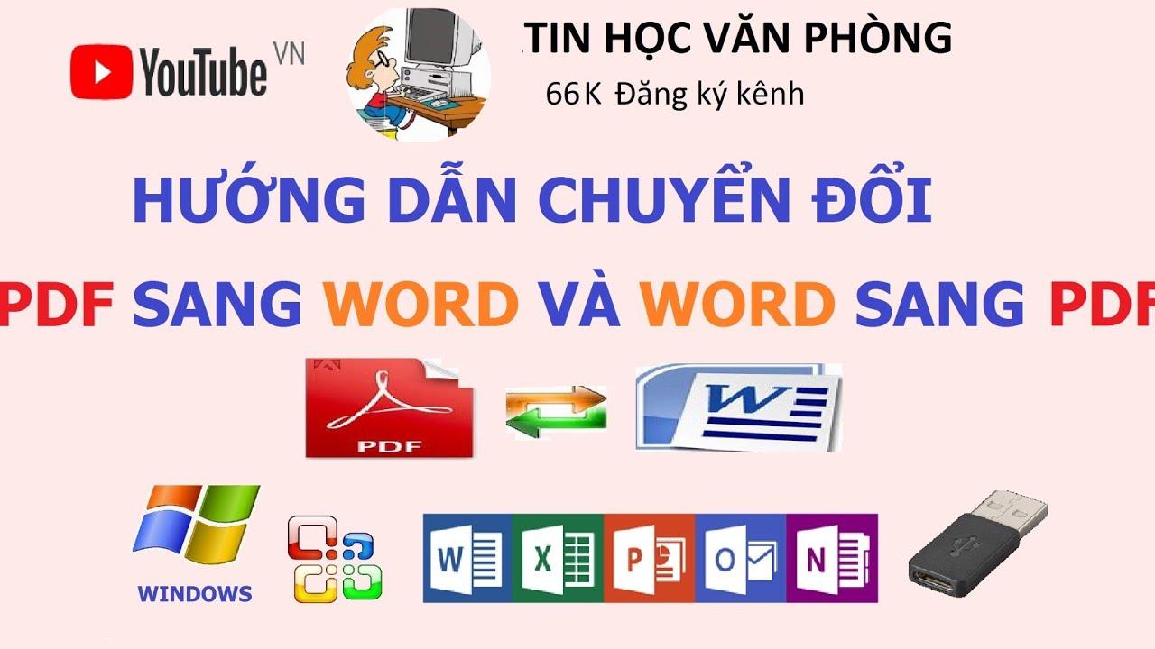 Cách chuyển file PDF sang Word (và ngược lại) Online – Cực đơn giản