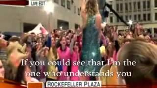 Taylor Swift-You Belong With Me- Lyrics-Live Edit