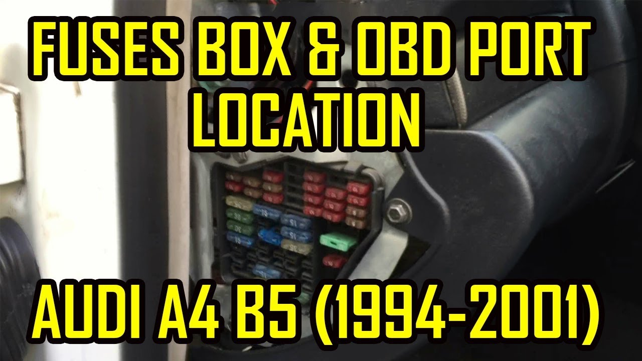 Audi A4 B5 Cabin Fuses and OBD2 Port Location - YouTube 2006 vw passat fuse box diagram YouTube