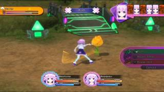 Hyperdimension Neptunia Victory - Battle Gameplay - PS3