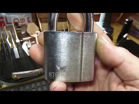 Взлом отмычками ERA   (316) Sterling 55mm Euro Padlock with ERA Repinned Core ()