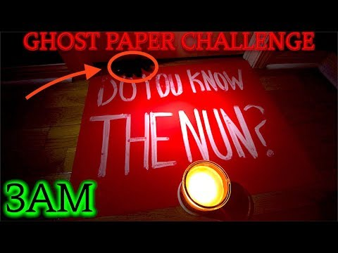 THE MOST TERRIFYING GHOST PAPER CHALLENGE AT 3AM EVER! (GONE WRONG) (DEMON USES POWER)