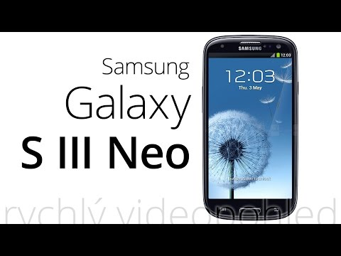 Samsung Galaxy S III Neo (rychlý videopohled)