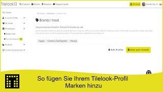 So fügen Sie Ihrem Tilelook-Profil Marken hinzu