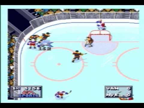 NHL 95 - Sega Genesis - 1994 - Gameplay.