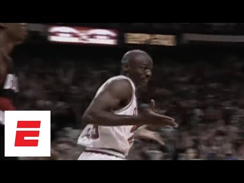 c3d38e15488 Michael Jordan shrugs after making six 3 s in first half of 1992 Finals  Game 1