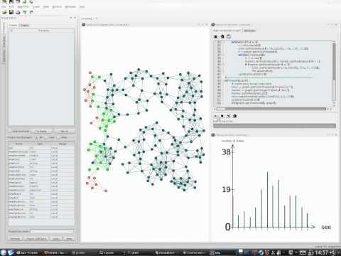 Tulip Python script for visualizing graph traversal algorithms