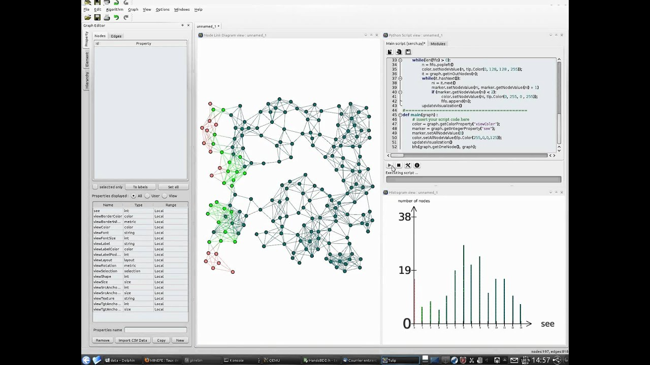 Tulip Python script for visualizing graph traversal algorithms