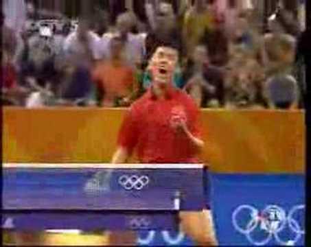 2004 Olympics Final Wang Hao - Ryu Seung Min pt 2/5