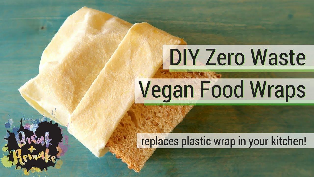 Diy Zero Waste Vegan Food Wraps Made With Candelilla Wax Replaces Plastic Wrap