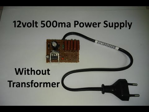 How to make transformer less power supply 12v 500ma output in hindi ...