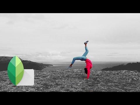 Snapseed - Обработка ЧБ +Цвет