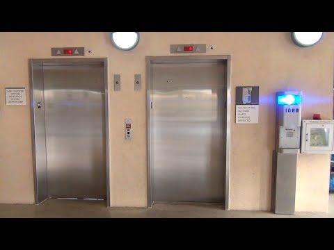 Nice ThyssenKrupp Hydraulic elevators at the Bauerle Parking Deck UTSA
