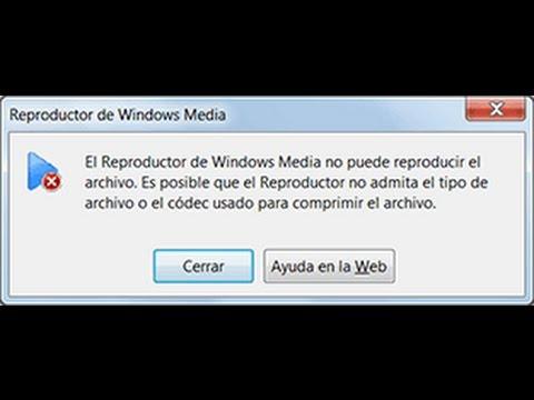 solucionar error de reproductor de windows media -{TUTOS S&M}-