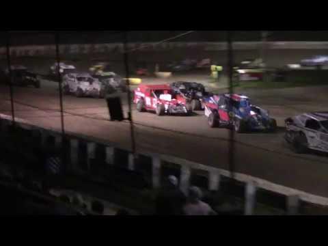 Ransomville Speedway Sportsman Crash Front Stretch Pile Up 10-16-17