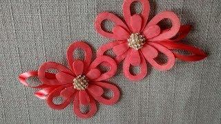 flor de feltro e organza