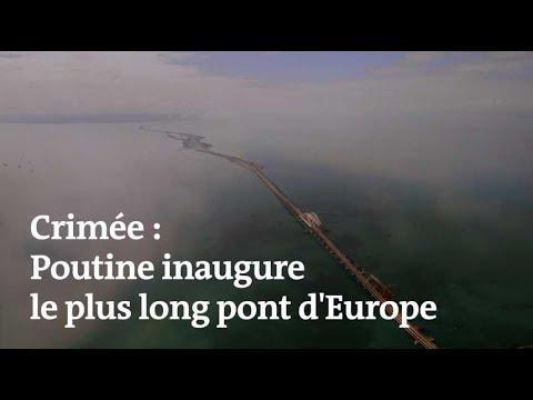 Poutine inaugure un immense pont stratégique reliant la Crimée à la Russie