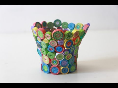 Diy Recycled Useful Paper Crafts Ideas | How to make flower vase with paper roll