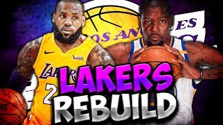 KEVIN DURANT JOINS THE LAKERS?! NBA 2K19 LOS ANGELES LAKERS REBUILD!