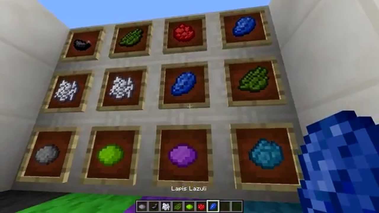 Minecraft Dye Crafting Tutorial How To Make All The Colors In