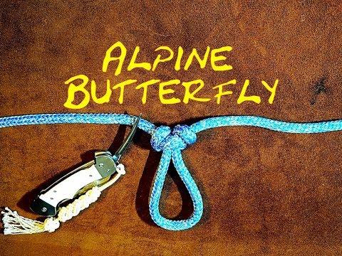 Alpine Butterfly Loop Revisited Quick Tie Version - Alpine Loop Lineman's Rider Lineman's Loop Knot