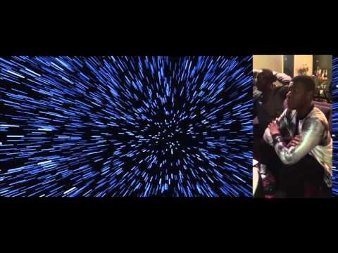 John Boyega reaction to Force Awakens Trailer (side by side)