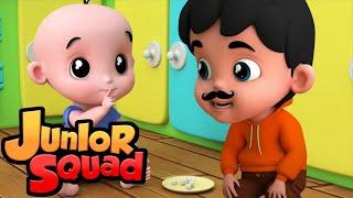 Johny Johny да папочка потешки детские песни Junior Squad Russia развивающий мультфильм