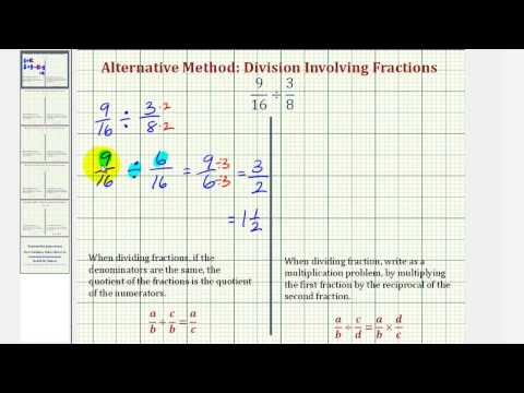 Ex1: Division Involving Fractions - Compare Alternative and