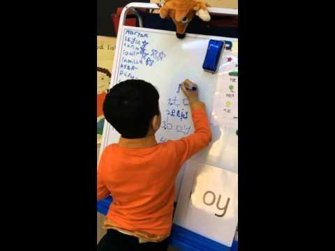 Avropa Azərbaycan Məktəbi, ERkən Təlim Mərkəzi, İngilis dili dərsində ( 5 yaşlı uşaqlar)