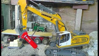RC LIEBHERR 970 EXCAVATOR! FANTASTIC RC MACHINES AND EQUIPMENT FORT THE CONSTRUCTION SITE!