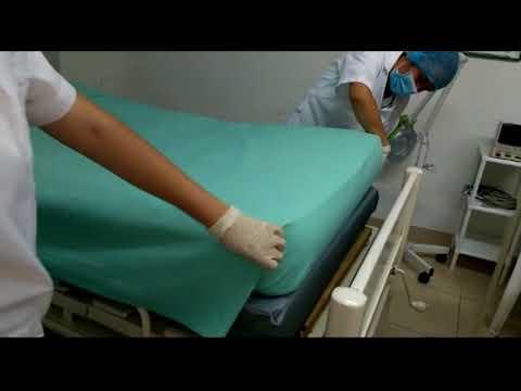 Tendido de cama cerrado abierta anest sica o for Cama ocupada
