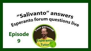 Duolingo Esperanto live Q and A Ep9 (Edited Version)