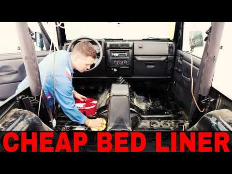 DIY: Bedlining/Rhinolining Your Jeep Wrangler/Cherokee Interior - Link To Spray Kit In Description