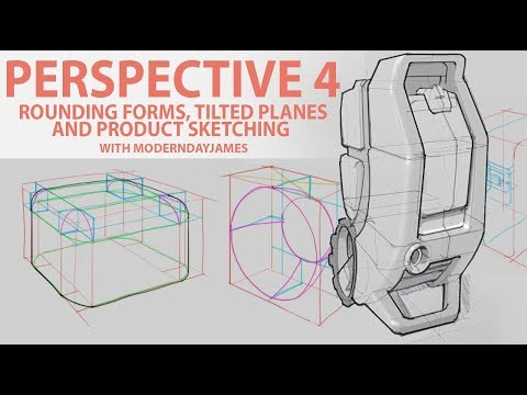 PERSPECTIVE pt. 4: Rounding Forms, angled planes, and product skeches