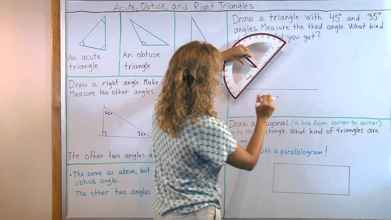Acute Obtuse And Right Triangles