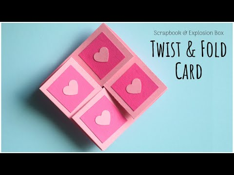 Twist and Fold Card Tutorial | Card Making Ideas for Scrapbook | Explosion Box Card Making